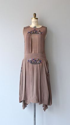 La Monnaie dress  vintage 1920s dress  silk beaded by DearGolden