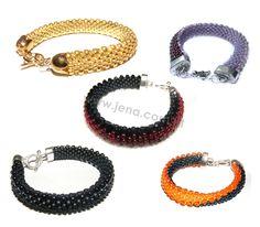 Caterpillars bracelets made by JENA