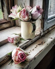 Flowers - Photography, still life life photography still My Flower, Flower Art, Beautiful Flowers, Beautiful Things, Deco Rose, Deco Floral, Rose Cottage, Belle Photo, Pink Roses