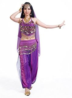 There is nothing more sexy and cool as being an Egyptian princess or perhaps even Cleopatra for Halloween. Finding trendy womens Egyptian Halloween costumes is easier than you think. Seawhisper 12 Colors Belly Dance Costumes India Dance Outfit Halloween Carnival