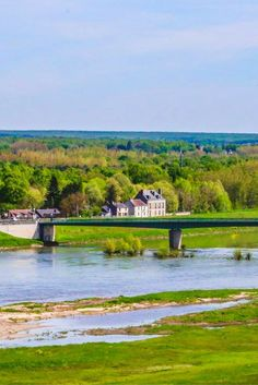 A view of the Loire Valley famous for its wine and chateaus.  As seen from the Chateau de Chaumont.