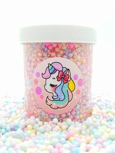 Unicorn Dip n Dots – Hoshimi Slimes Pink Fluffy Slime, Best Fluffy Slime Recipe, Slimy Slime, Fruit Slime, Miraculous Ladybug Toys, Pretty Slime, Diy Ice Cream, Slime Shops, Clear Slime