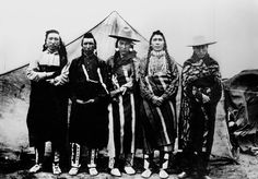 Old Boy, Young Boy, Joe Little Pine, Too Way, Wah-wah-kee-ta - Cree - 1909