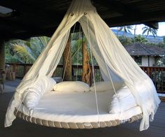 Kid trampoline made into hanging bed! Love this idea. Kid trampoline made into hanging bed! Love this idea. Kid trampoline made into hanging bed! Love this idea. Outdoor Beds, Outdoor Spaces, Outdoor Living, Outdoor Decor, Outdoor Hammock, Hammock Ideas, Outdoor Lounge, Backyard Hammock, Backyard Toys
