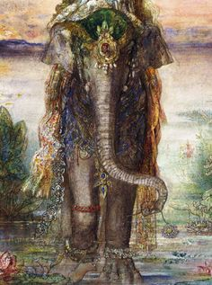 Gustave Moreau (French, 1826–1898) - The Sacred Elephant (Péri) (1882)