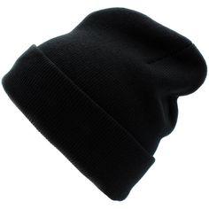 CUFFED PLAIN SKULL BEANIE HAT / CAP | Winter Unisex Knit Hat Toboggan... ($6.99) ❤ liked on Polyvore featuring men's fashion, men's accessories, men's hats, mens beanie hats, mens caps and hats, mens knit hats and mens knit beanie hats