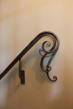 .Wrought Iron Handrail detail | Artisan: Mark J. Hopper, Designer Blacksmith, The Goat Farm, Atlanta, GA, USA | www.goatnhammer.com