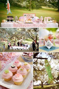 pretty Japanese party celebrating spring