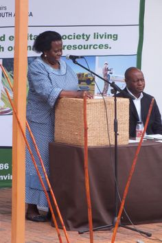 The Deputy Minister shares encouraging words with the Environmental Monitors