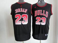 Adidas NBA Chicago Bulls 23 Michael Jordan Black Colorful Swingman Jersey