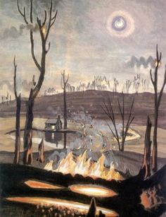 """Charles Burchfield, """"Forest Fire in Moonlight"""" 1920"""
