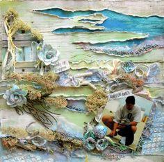 Mixed media memory art