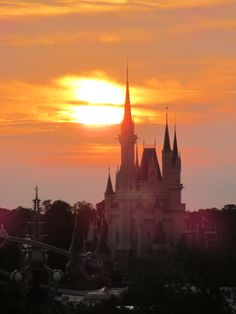 Sunset over Cinderella's Castle ....Walt Disney World...view from Bay Lake Tower