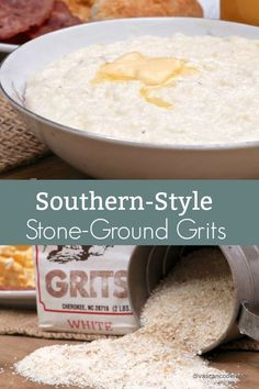 *Tried & True* Creamy, buttery, stone-ground grits prepared the old-fashioned, Southern way. Grits Breakfast, Breakfast Dessert, Breakfast Dishes, Breakfast Recipes, Southern Style, Southern Women, Southern Food, Son Quotes, Baby Quotes