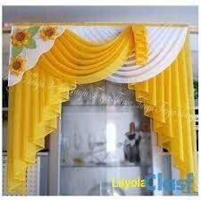 CURSO GRATIS DE CORTINAS EN CASCADA CON PATRONES Swag Curtains, Curtains And Draperies, Home Curtains, Modern Curtains, Kitchen Curtains, Valances, Curtain Designs For Bedroom, Drapery Designs, Rideaux Design