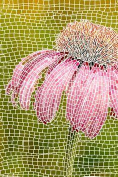 Cone flower mosaic