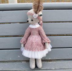 Teddy bear ballet dancer by PensiveTeddyOfStyle on Etsy