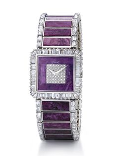 Haute Joaillerie watch in white gold, diamonds and rubies