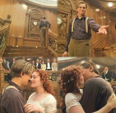 Meet me at the clock tower. Jack and Rose. Real Titanic, Titanic Photos, Titanic Movie, Titanic Wreck, Love Movie, I Movie, Kate Winslet And Leonardo, Leo And Kate, Young Leonardo Dicaprio