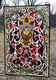 Exotic Deco Stained Glass Window Panel RK1024