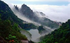 Tailaoshan Mountain located in Fuding , Fujian province is a place famous for its scenery or historical relics. An ancient Chinese legen. Chinese Mountains, Tea Places, Growing Orchids, Chinese Tea, Cats Of Instagram, In The Heights, Easy, Cool Photos, Waterfall