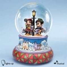 Mickey and Gang Christmas Snow Globe - Jim Shore, Disney ...