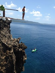 Boracay. Ariel's Point. cliff diving