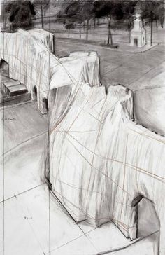 Christo and Jeanne-Claude, Wrapped Roman Wall, 1973-1974
