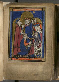 Adorazione dei Magi - Murthly Hours - manoscritto - Parigi - 1280 - National Library of Scotland