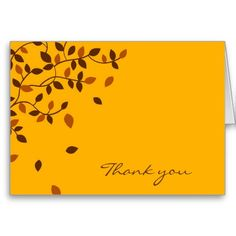 Fall Autumn Leaf Thank You Note Cards