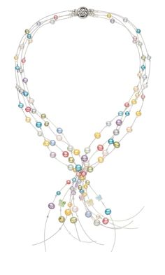 Jewelry Design - Multi-Strand Necklace with Cultured Freshwater Pearls, Swarovski Crystal Beads and Accu-Flex® Beading Wire - Fire Mountain Gems and Beads