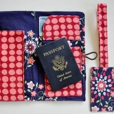 Travel Wallet with Matching Luggage Tag {tutorial}
