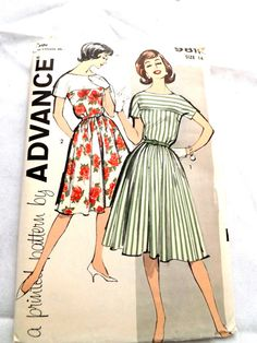 Vintage 1960 Advance 9811 UNCUT Sewing Pattern Misses' by CHARMRI, $12.00