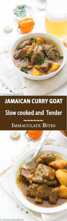 Jamaican Curry Goat – Insanely Delicious  Slow Cooked Jamaican Spiced Curry that is Full of flavour and tender to the bone! An Absolutely must make Jamaican food!