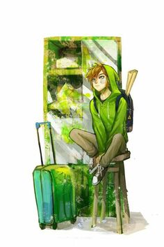 I feel like Link would sooo play Minecraft. His hoodie reminds me of a creeper.