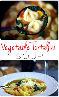 Vegetable Tortellini Soup | Home & Plate | www.homeandplate.com | This vegetable tortellini soup is loaded with fresh vegetables and fresh cheese tortellini.