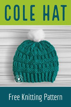 6928e0e601e Made with super bulky yarn this free hat pattern can be knit over and over  again in no time at ...