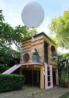 playhouse Outdoor recreation or outdoor activity identifies recreation engaged in out of doors, most commonly Backyard Playhouse, Build A Playhouse, Backyard Playground, Backyard For Kids, Backyard Ideas, Playhouse Ideas, Backyard Games, Outdoor Play Spaces, Outdoor Fun