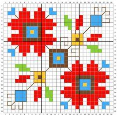 Creative Embroidery, Folk Embroidery, Cross Stitch Embroidery, Cross Stitch Designs, Cross Stitch Patterns, Biscornu Cross Stitch, Weaving Wall Hanging, Christmas Cross, Pixel Art