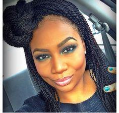 Chic and classy! Box braid hairstyle