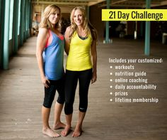 Are you ready to get back on track, create healthy habits and see MAX results without starving or crazy long workouts?  You have to join our 21 Day Challenge Group! We host one each month, and we'd love to include you.