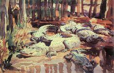 Muddy Alligators by John Singer Sargent