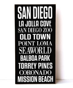Loving this San Diego Subway Wall Sign on #zulily! #zulilyfinds