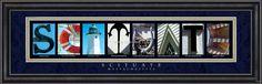 Scituate, MA. Framed Letter Art