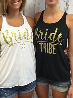 Bride Tribe - Bulk Bridal Party Tank Tops Bachelorette Party Tank tops for your best friends. Great for a girls night out!