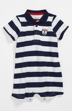 e10633272 Little Me  Anchor  Romper (Baby Boys)