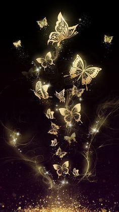 It… Beautiful golden butterfly live wallpaper! It is originally designed by Ahatheme! Hd Wallpaper Android, Wallpaper Für Desktop, Butterfly Wallpaper Iphone, Cute Wallpaper Backgrounds, Love Wallpaper, Pretty Wallpapers, Cellphone Wallpaper, Colorful Wallpaper, Galaxy Wallpaper