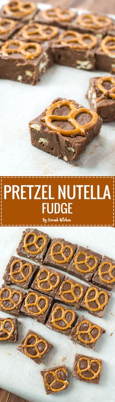 This Pretzel Nutella Fudge is a delicious mix of sweet and salty, the perfect antidote for any craving. | crumbkitchen.com