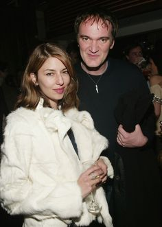 Sofia Coppola in Helmut Lang with Quentin Tarantino MoMA 2004   Photo Evan Agostini / Getty.