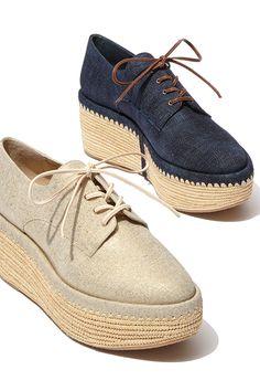 7bf037fd816 Stuart Weitzman - Kent Raffia Denim Platform Creeper Shoes